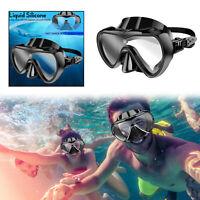 Maschera Da Sub Scuba Snorkel Goggles Anti Fog Silicone Half Face Occhiali IT