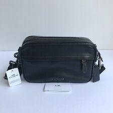 Coach * Men's Bag F39946 QB/BK Graham Crossbody in Black Leather COD PayPal