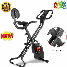 Foldable Stationary Upright Exercise Bike Magnetic X-Bike Cardio Workout Cycling