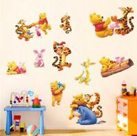 Winnie the Pooh & friend 40 Removable WALL DECAL STICKERS Kids Room FREE SHIP