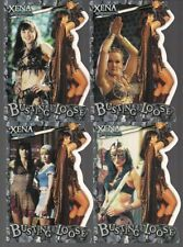 XENA SEASON 6 BUSTING LOOSE 4 DIECUT CHASE CARD LOT BL1 BL2 BL8 BL9 LUCY LAWLESS