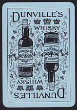 1 Single VINTAGE Playing/Swap Card OLD WIDE DUNVILLE'S WHISKY Blue/Black