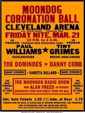 1952 Moondog Coronation Ball concert POSTER--> 1st EVER rock concert Alan Freed
