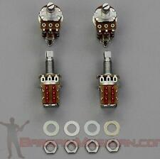 Lot of 4 Push Pull A500K Volume / Tone Pots Guitar / Bass, Audio Potentiometer