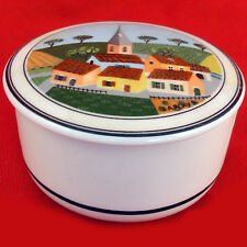 "COVERED BOX by Villeroy & Boch Naif Design 3""  Village Houses NEW NEVER USED"