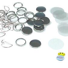 100 Stück 25 mm Buttonrohlinge, Ansteckbuttons Bogennadel Badgematic