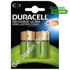 2 X Duracell C tamaño C 3000 Mah Recargables Nimh LR14 Hr14 Dc1400 Accu