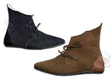 Mittelalter Schuhe Halbstiefel Echt Leder Rauhleder braun oder schwarz LARP
