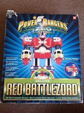 Power Rangers Zeo Deluxe Battlezord Rojo En Caja Bandai 1997 Saban's Juguete acción Fig