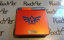 Red & Blue Zelda GameBoy Advance SP *MINT* AGS-001 Custom Nintendo System gba