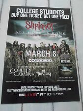 "SLIPKNOT Concert Poster ALL HOPE IS GONE San Diego COX ARENA 11""x17"""