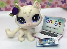 LPS CUSTOM, White Cat, Kitty, Littlest Pet Shop, Very Rare, With Accessories