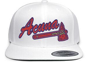 Atlanta Braves Ronald Acuna Jr Logo Embroidered Snapback Hat