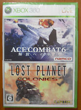 Ace Combat 6 (Region Lock) + Lost Planet Colonies (Region Free) Xbox 360, NEW!!