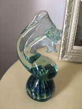 Mdina Glass Seahorse Paperweight beautiful Colours