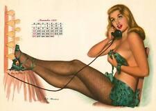 November 1950 Pinup calendar from Esquire   8 x 10 Giclee-Iris print