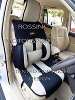 TO FIT A MERCEDES C CLASS CAR, SEAT COVERS, BO 4 ROSSINI MESH SPORTS BEIGE/BLACK