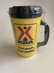 NEW! in wrapper Thermo-Serv KOA travel coffee mug with lid insulated
