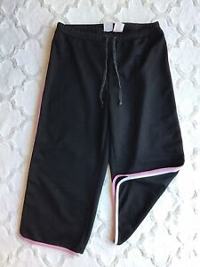 Athletic Works Women's Sz M 8/10 Pink & White Trim Athletic Crop Capri Pants