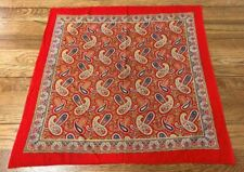 Vintage Turkey Red Paisley Handkerchief Bandanna Collection Find!