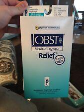 Jobst Medical Legwear Relief 20-30mmHg Firm Compression Knee High Socks M Biege