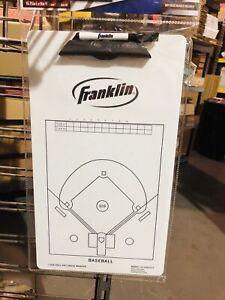 Franklin Sports Baseball Coaching Clipboard White Dry Erase
