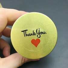 Thank you Red Heart Sticker envelope/wedding favors/invitation seal stickers 100