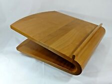 Levenger Solid Wood Book Stand Easle Swivel Lectern Podium Lazy Susan Display