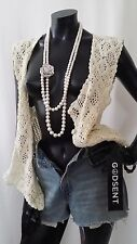 Vintage Long Multi Strand White Pearl Silver Rose Chunky Statement Necklace