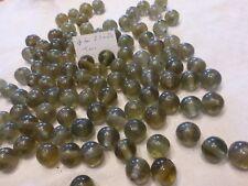 lot de 50 grosse perle ancienne ronde marron fumé 21 à 24 mm en verre pampille
