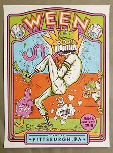 WEEN Pittsburgh Poster 7/27/2018 Doc's No No Ellis Pirates Stage AE Phil Guy