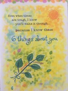 New Blue Mountain Arts Card ENCOURAGEMENT/ EVEN WHEN TIMES ARE TOUGH