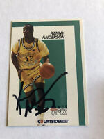 Kenny Anderson Signed 1991 Courtside Card # 3