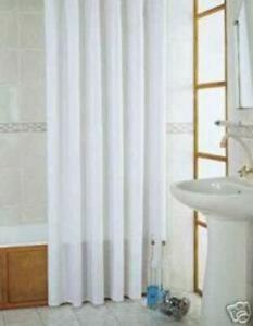 Duschvorhang Textil weiss extra lang 260x200 cm + Ringe Raumteiler Vorhang