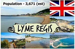 Lyme Regis, Dorset - Souvenir Nouveauté Réfrigérateur Aimant - Sights/Drapeau/