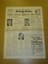 MELODY MAKER 1936 AUG 1 LEW STONE TEDDY FOSTER LOU PREAGER BIG BAND SWING