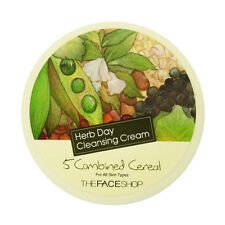 THEFACESHOP Herb Day Cleansing Cream 150ml Korean Cosmetics - 5 Combined Cereal