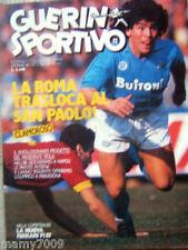 GUERIN SPORTIVO=N°12 1987=POSTER NAPOLI 1986/87=DDR=CICLISMO/LA MILANO-SANREMO