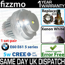 FIZZMO XENON WHITE LED ANGEL EYE BMW 5 SERIES E60 E61 LCI FACELIFT 5W using CREE