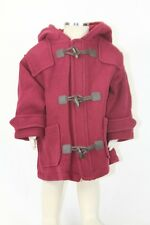 JACADI Girl's Bati Plum Duffle Coat With Hood Size 12 Months NWT $158
