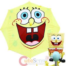 Nick SpongeBob Umbrella Kids Parasol Big Face with 3D Figure Handle