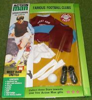 VINTAGE ACTION MAN 40th SPORTSMAN CARDED FOOTBALL CLUB WEST HAM UNITED 1/6 SCALE