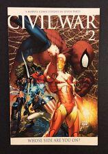 CIVIL WAR #2 Comic Book Michael TURNER VARIANT 1st Print Spider-Man Unmasked
