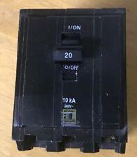 Qob320 Square D 20 amp, 3 pole circuit breaker