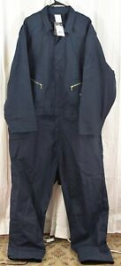 Dickies Men's 7 1/2 Ounce Twill Deluxe Long Sleeve Coverall Navy Size 4XLR