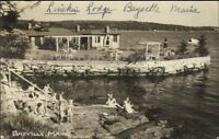 Bayville ME Linekin Lodge Swimming Real Photo Postcard