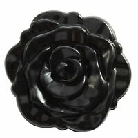 3D Stereo Double Sided Retro Rose Shape Makeup Compact Cosmetic Mirror Black AD