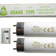 2 x 15w 450mm T8 Fluorescent Tubes 18 Inch Lamp Cool White 840 Light 15 Watt