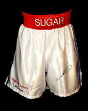 *New* Sugar Ray Leonard Signed Custom Made Replica Boxing Trunks