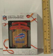 "Buffalo Bills Team Metal Sled Christmas TREE ORNAMENT 4"" NFL Forever"